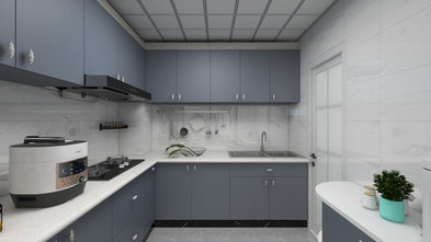 富裕型120平米三室两厅现代简约风格厨房欣赏图