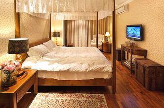 15-20万120平米三室两厅东南亚风格卧室装修图片大全