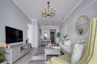 70平米一室一厅美式风格客厅装修图片大全