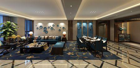 豪华型140平米别墅新古典风格餐厅效果图