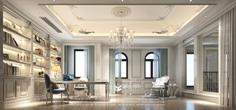 140平米别墅法式风格书房装修案例
