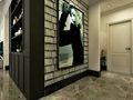 110平米三室三厅美式风格玄关图片大全
