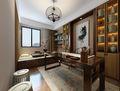 豪华型140平米三室两厅中式风格书房图片