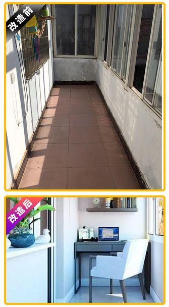 10-15万110平米三室两厅中式风格阳台装修图片大全