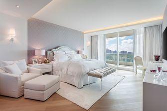富裕型140平米三室一厅港式风格卧室装修图片大全
