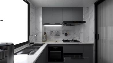 经济型70平米一室一厅港式风格厨房装修图片大全