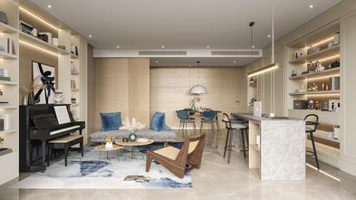 140平米三室两厅法式风格客厅效果图