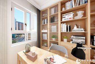 5-10万90平米三室两厅北欧风格书房图