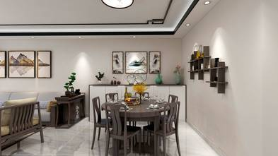 100平米英伦风格餐厅设计图