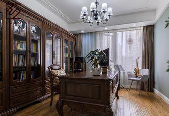 富裕型130平米三室两厅美式风格书房图片大全