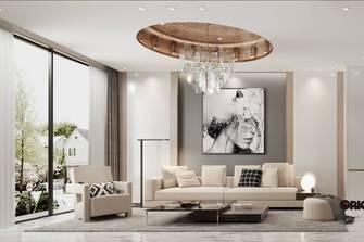 豪华型140平米复式轻奢风格客厅欣赏图