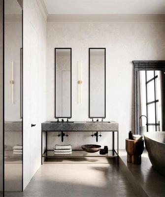 经济型90平米一居室法式风格卫生间图片大全