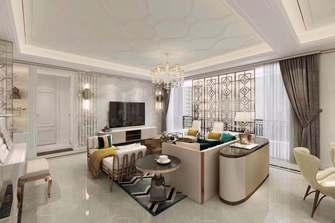 100平米三室一厅法式风格客厅图
