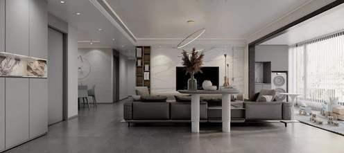经济型140平米四室两厅现代简约风格客厅设计图
