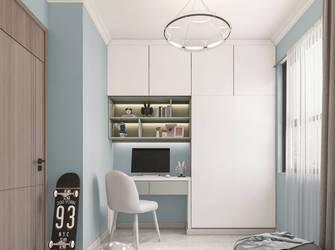 富裕型100平米三室两厅现代简约风格青少年房装修案例