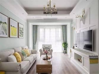 富裕型80平米三室一厅美式风格客厅装修案例