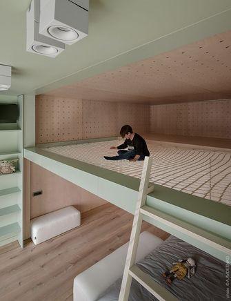 20万以上140平米别墅混搭风格青少年房欣赏图