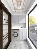10-15万90平米三室两厅新古典风格阳台图片