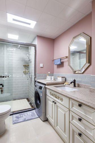140平米三室两厅田园风格卫生间图片大全