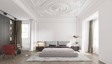 经济型三室两厅法式风格卧室图片