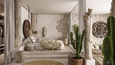 20万以上130平米三室两厅地中海风格卧室欣赏图