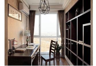 富裕型120平米三室两厅中式风格书房设计图