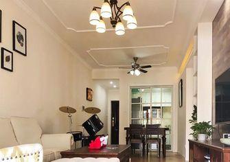 富裕型80平米三室三厅美式风格客厅设计图