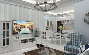 富裕型80平米地中海风格客厅图