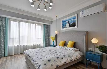 富裕型110平米三室两厅北欧风格卧室装修图片大全