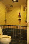 5-10万90平米一室一厅田园风格卫生间装修案例