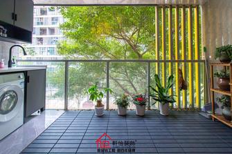 140平米三室两厅轻奢风格阳台装修案例