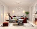 10-15万80平米三室一厅法式风格客厅图片大全