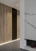 5-10万100平米三室两厅现代简约风格走廊图片大全