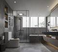 豪华型140平米别墅现代简约风格卫生间装修案例