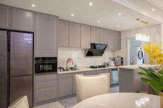 豪华型110平米四室一厅美式风格厨房装修图片大全