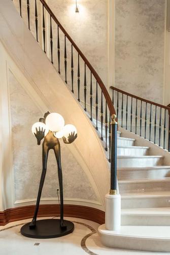 20万以上140平米别墅美式风格楼梯间装修效果图