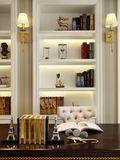 豪华型140平米四室两厅美式风格书房设计图