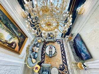 豪华型140平米别墅法式风格客厅装修案例