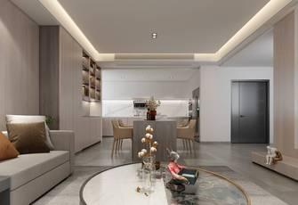 富裕型140平米三室两厅现代简约风格餐厅装修图片大全