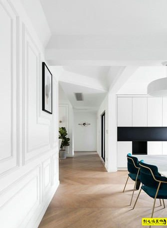 富裕型120平米北欧风格走廊图片大全