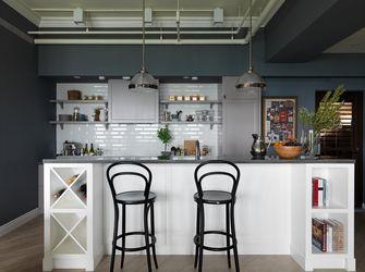 130平米三室一厅工业风风格厨房图