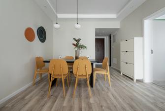 80平米三室两厅田园风格餐厅设计图