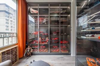 富裕型100平米三室一厅轻奢风格书房效果图