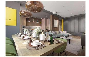 15-20万140平米三室两厅北欧风格餐厅设计图