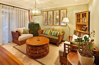 富裕型120平米三室两厅东南亚风格客厅欣赏图