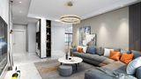 富裕型三现代简约风格客厅设计图