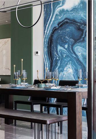 140平米三室一厅北欧风格餐厅装修图片大全