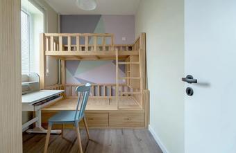 60平米北欧风格青少年房装修案例