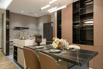富裕型70平米一室一厅轻奢风格餐厅图