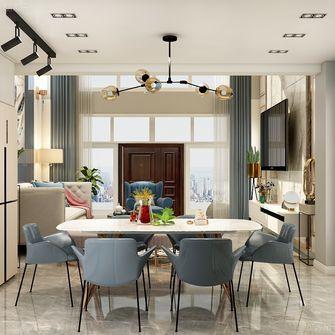 130平米复式混搭风格客厅效果图